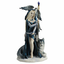 "11.5"" Arcana The Shaman By Ruth Thompson Statue Sculpture Figure Wolf Figurine"
