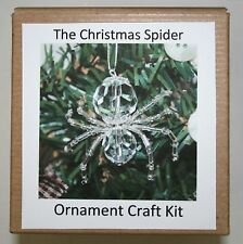 The Legend of the Christmas Spider Beading Ornament Kit. Makes 3. Crystal Silver