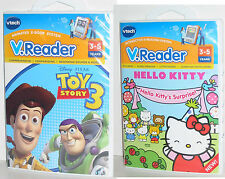 2 Lot VTech Vreader Learning Games Hello Kitty's Suprise+Toy Story V.reader NEW