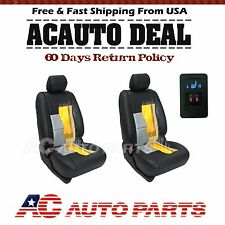 2 Seats Carbon Fiber Universal Car Heated Seat Heater Kit, 2-dial 5-level Switch