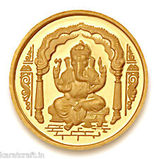 Karatcraft.In 2 gms 24 Kt purity 995 fineness Ganesha Gold Coin