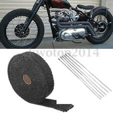 25'x1'' Motorcycle Exhaust Pipe Heat Insulation&Anti Scald Wrap Tape Fiberglass