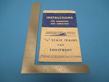 """1949 American Flyer Instructions Assembling & Operating 3/16"""" Scale Trains S1029"""