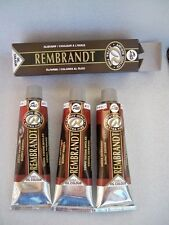 3 TUBI 150 ML OLIO EXTRA FINE ARTISTS REMBRANDT TALENS OIL COLOUR BURNT SIENNA