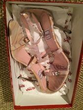 """Boxed Renata """" Stampato"""" All Leather Pink Mix Strappy Sandals EU 37.5 UK 4.5"""