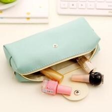 Leather Pencil case school Pencil Bag Stationery School Supplies Blue