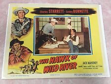THE HAWK OF WILD RIVER 1952 MOVIE LOBBY CARD POSTER