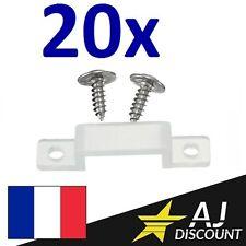 20x Cavalier / Clip de fixation en silicone pour ruban LED 10mm avec VIS