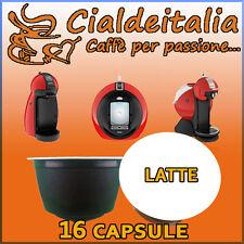16 capsule LATTE Cialdeitalia comp. Nescafè Dolce Gusto