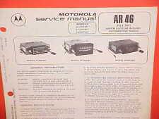 1977 GM CHEVROLET CADILLAC OLDS PONTIAC FORD MOTOROLA AM-FM RADIO SERVICE MANUAL
