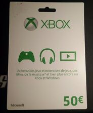 Carte Xbox Live de 50 euro Xbox One / Xbox 360 Microsoft Prépayé 50€ Cadeau FR