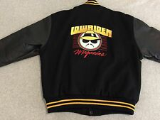 LOWRIDER Magazine Black Yellow Varsity Button Front Jacket Men's Medium