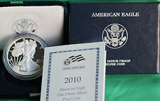 2010 AMERICAN SILVER EAGLE PROOF DOLLAR US Mint ASE Coin with Box & COA