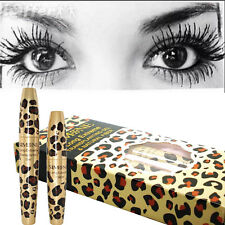 Waterproof 3D Natural Fiber Lash Mascara&Transplanting Gel Set Leopard Case