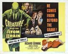 Creature With The Atom Brain Poster 02 A3 Box Canvas Print