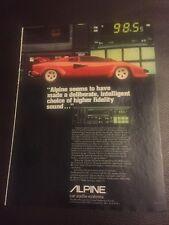 Vintage Alpine Car Audio Systems Australian Print Advertising 1984 Free Postage