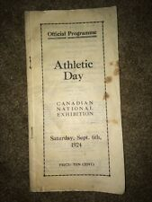 Canadian National Exhibition Official Programme Athletic Day September 1924