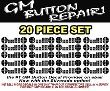 20 Sets of GM Button Stickers Decals Yukon Tahoe Climate Control A/C REPAIR