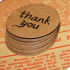 10PCS Brown Kraft Paper Hang Tags Wedding Party Favor Label thank you Gift Cards