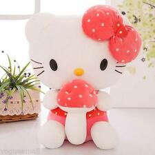 Mushroom Hello Kitty Super Soft Dolls Stuffed Animal Plush Toy Kids Gift 30cm
