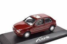 FORD FIESTA 4 1995 DARK RED DEALER MODEL MINICHAMPS 433 085003 1:43 NEW DIECAST