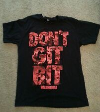 The Walking Dead (dont get bit) mens large shirt-FAST SHIPPING