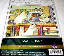 Design Works Janlynn Counted Cross Stitch Picture Kit GOLDFISH CATS