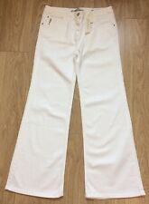 ZARA WOMAN WHITE HIGH WAISTED FLARED JEANS 70'S BLOGGERS UK 12 EUR40 BNWT ZJ350