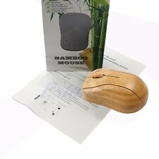 New 2.4GHz Bamboo Wireless USB Receiver Optical Mouse Mice For Laptop Desktop PC