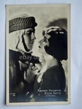 RAMON NOVARRO ALICE TERRY l' Arabo attore actor cinema silent film old postcard