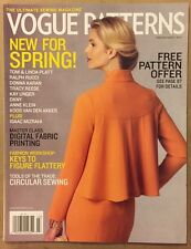 Vogue Patterns New For Spring FREE Pattern Sewing Feb/Mar 2015 FREE SHIPPING!