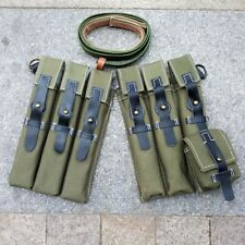 GERMAN WW2 WWII CANVAS P38/P40 POUCHES WITH BELT STRAP REPLICA