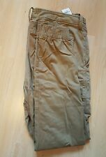 Abercrombie & Fitch CARGO JOGGER CHINOS Size: 34 Color: KHAKI 36-37 X 30 BNWT