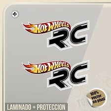 PEGATINA HOT WHEELS RC LOGO DECAL VINILO VINYL STICKER DECAL ADESIVI
