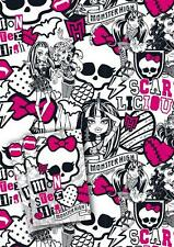 MONSTER HIGH 2 SHEETS OF GIFT WRAP AND 2 GIFT TAGS NEW GIFT