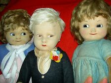 "1920s CHAD VALLEY 17"" j'td. felt boy doll, label & metal button all orig. xlnt."