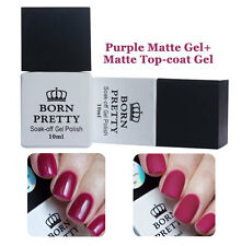 2pcs 10ml Born Pretty Soak Off Mat Gel UV Born Pretty Top Coat Gel Vernis Mat