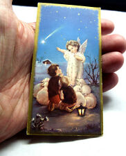 VINTAGE JESUS AS A CHILD W/CHILDREN & LAMBS   HOLY CARD