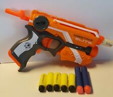 Highly Modified Nerf Firestrike Blaster Gun w/ 5 Stephan Darts 60 ft Level Shot!