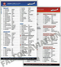 Cessna 172M Skyhawk Quick Reference Checklist Card by QRef