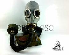 Soviet Russian CCCP Military Gas mask GP-5 with black hose. NOS. Full set.