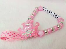 Personalised Stunning Crown Dummy Clip Chain Any Name for reborn dolls