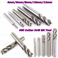 5Pcs HSS CNC Straight Shank 4 Flute End Mill Cutter Drill Bit 4/6/8/10/12mm Set