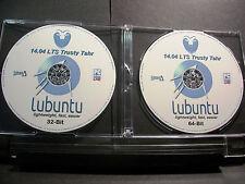 LUBUNTU 14.04 Linux LTS 32 & 64-Bit DVD LIVE/Install+Case Sticker+Extras (NEW)