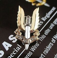 AUSTRALIAN SAS SPECIAL AIR SERVICE REGIMENT LAPEL PIN GOLD & SILVER PLATED SASR