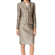 Le Suit New Petite Three-Button Jacquard Skirt Suit Size 16 MSRP $240 #LB 5-16