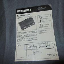 704B Dépliant Fleischmann 4 feuilles 14 X 20 Relais 6956