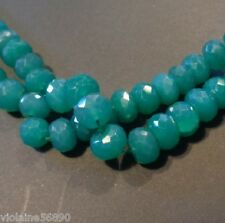 LOT 5 PERLES PIERRES NATURELLE FACETTE 10mm GREEN ONYX NATURAL STONE BEADS INDIA