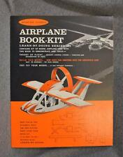 1963 Aviation Science Airplane Book-Kit Paper/Fiber Model New