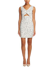 CeCe by Cynthia Steffe Ponte Light Cream Cut-out $110 Dress Size 4 NEW